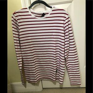 Burberry designer striped pullover shirt M